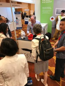 Gary showcasing our kettle at Ageing Asia