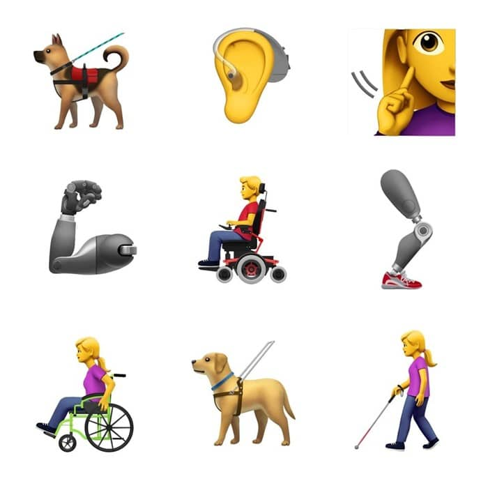 Images of Disability Emojis