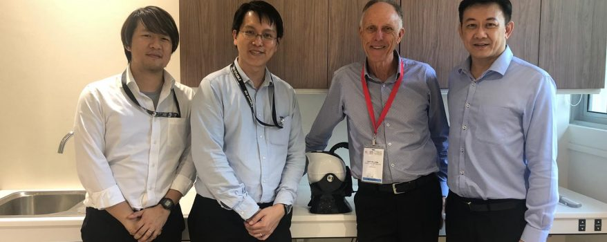 Image of Team Leader Gary with Lifeline and Tech Able Singapore