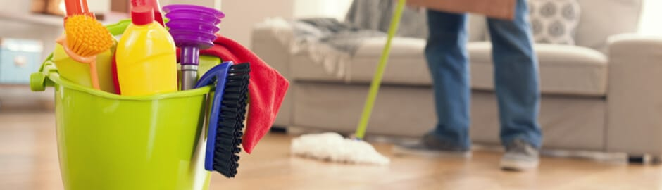 Image of managing arthritis at home. Person doing chores