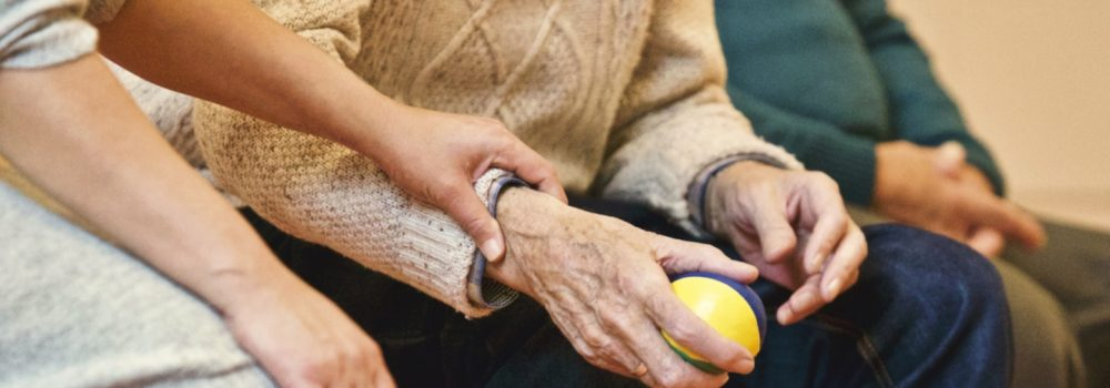 Image of Ageing persons hand
