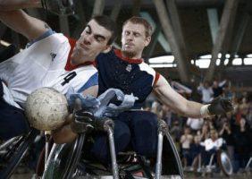 Image of Para-athletes playing in Paralympics