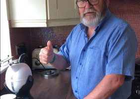 Image of Michael Clancy with his new Uccello Kettle